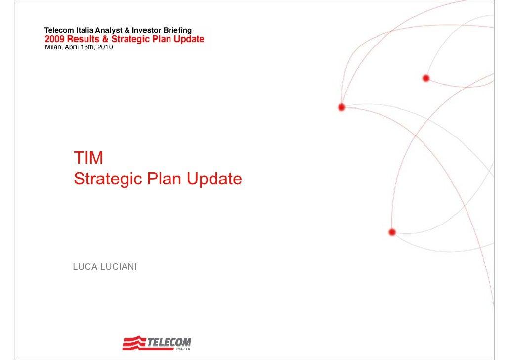 TIM Strategic Plan Update    LUCA LUCIANI