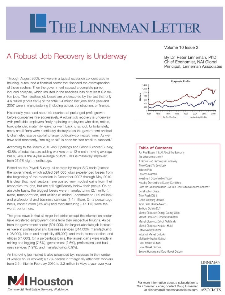 Volume 10 Issue 2  A Robust Job Recovery is Underway                                                                      ...