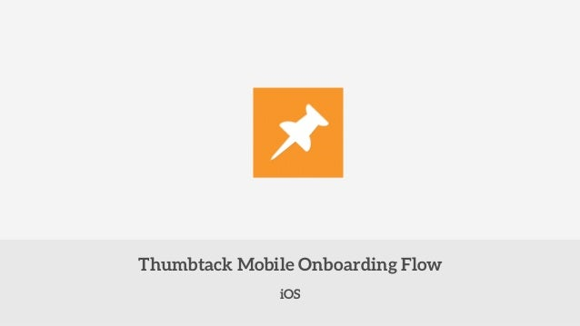 Thumbtack Mobile Onboarding Flow  iOS