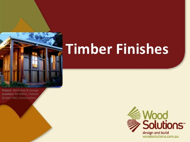 Timber Finishes<br />Project: Workshop & Garage<br />Location: Mt Albert, Victoria<br />Builder: MCL Constructions<br />