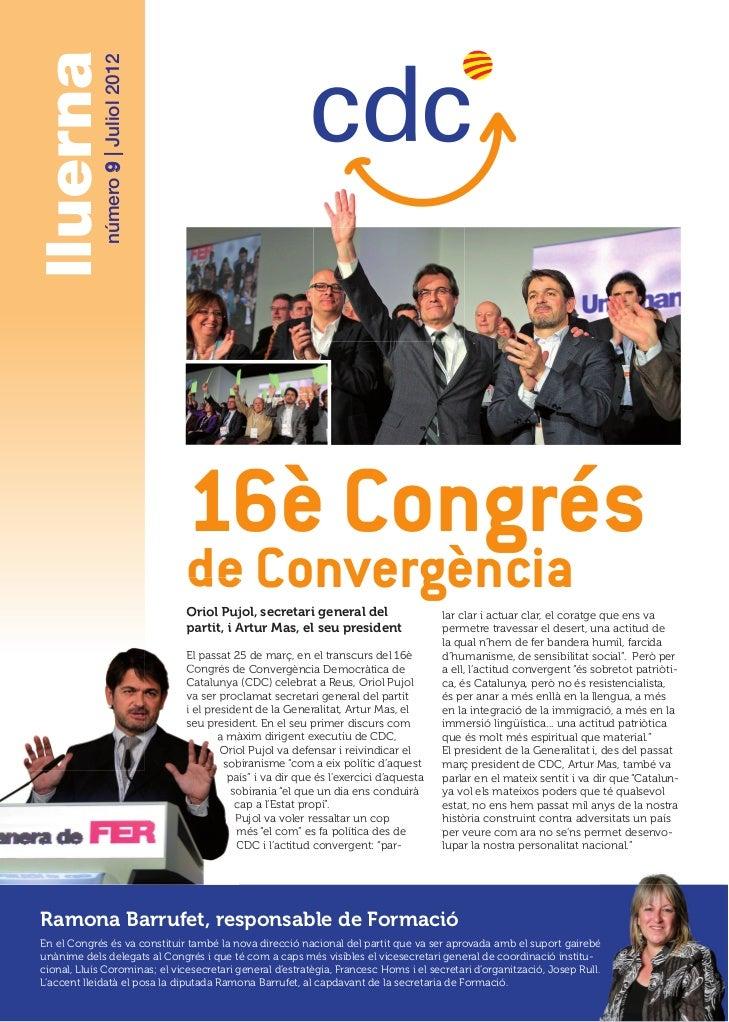 lluerna      número 9   Juliol 2012                                      16è Congrés                                      ...