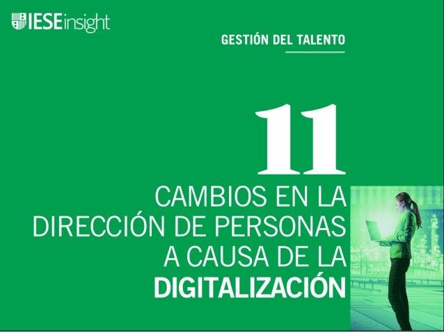11 cambios en la dirección de personas a causa de la digitalización