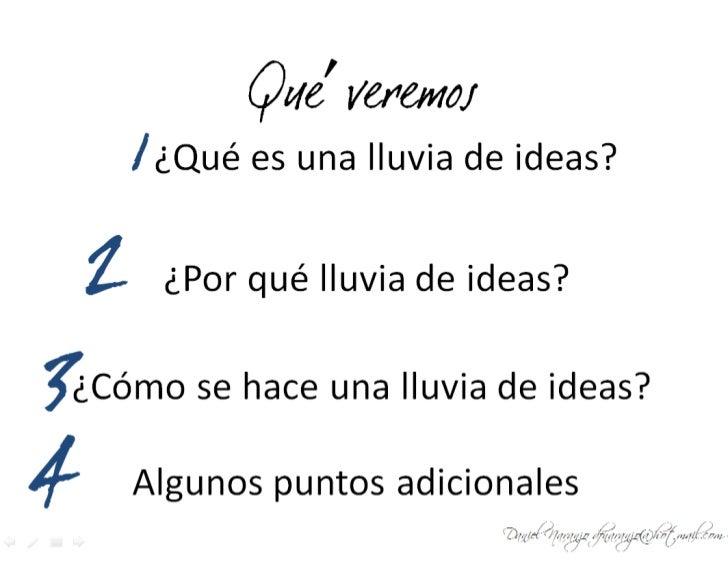Lluvia De Ideas Slide 3