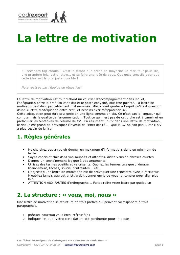 lettre de motivation c Lettre de motivation lettre de motivation c