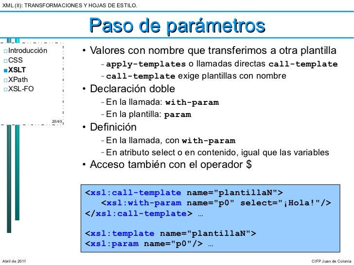LM-UT6: Transformaciones XML