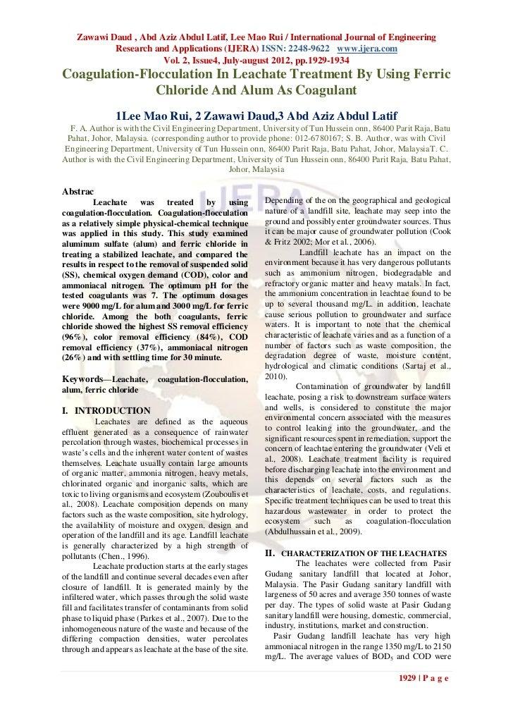 Zawawi Daud , Abd Aziz Abdul Latif, Lee Mao Rui / International Journal of Engineering            Research and Application...