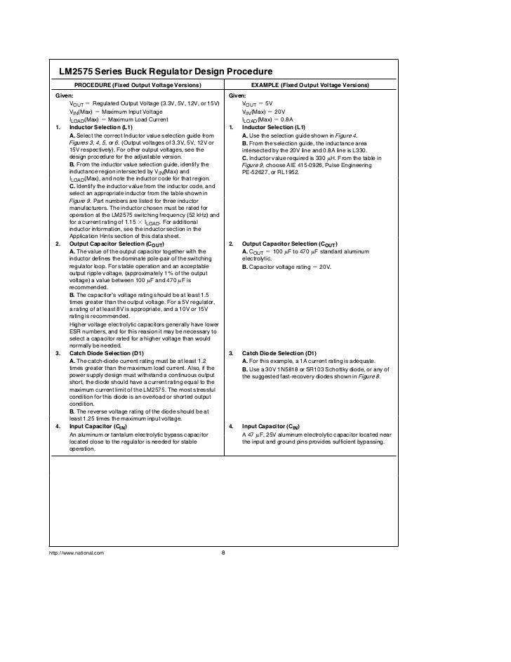 lm2575 voltage regulator datasheet