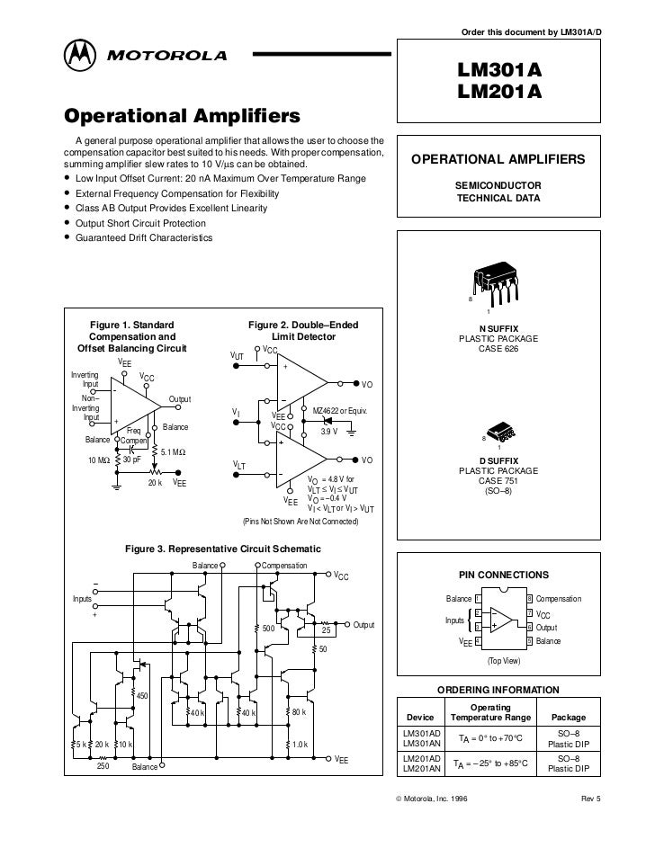 LM301 Operational Amplifiers