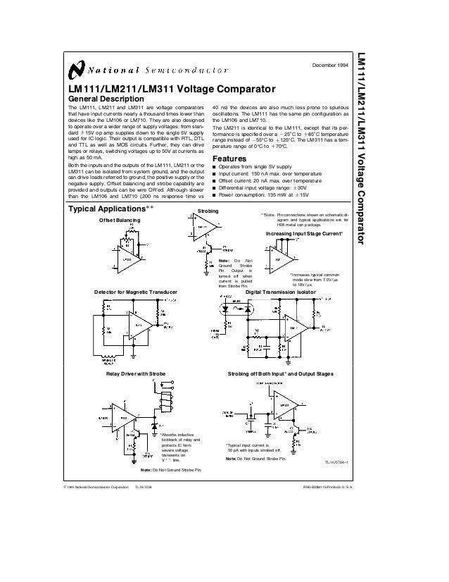lm311 data sheet