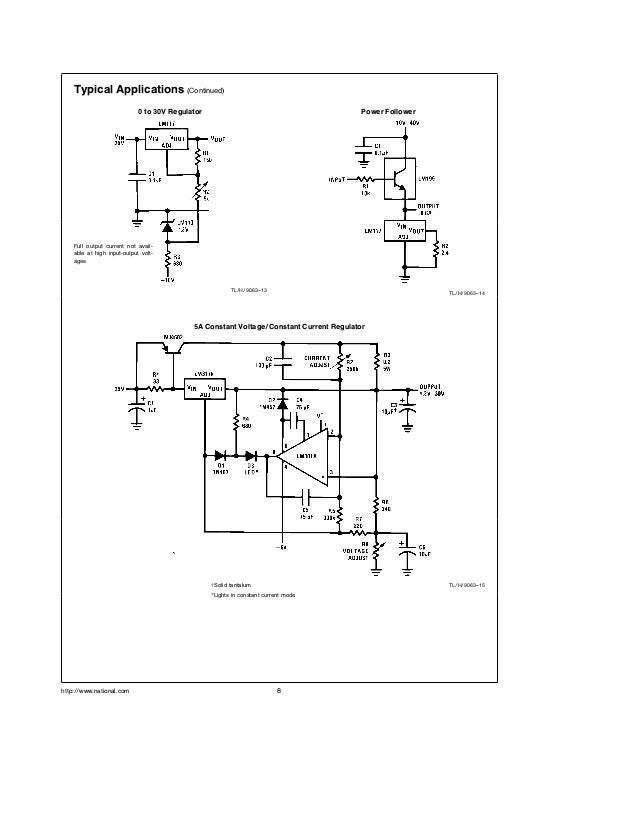 lm317 adjustable regulator datasheet