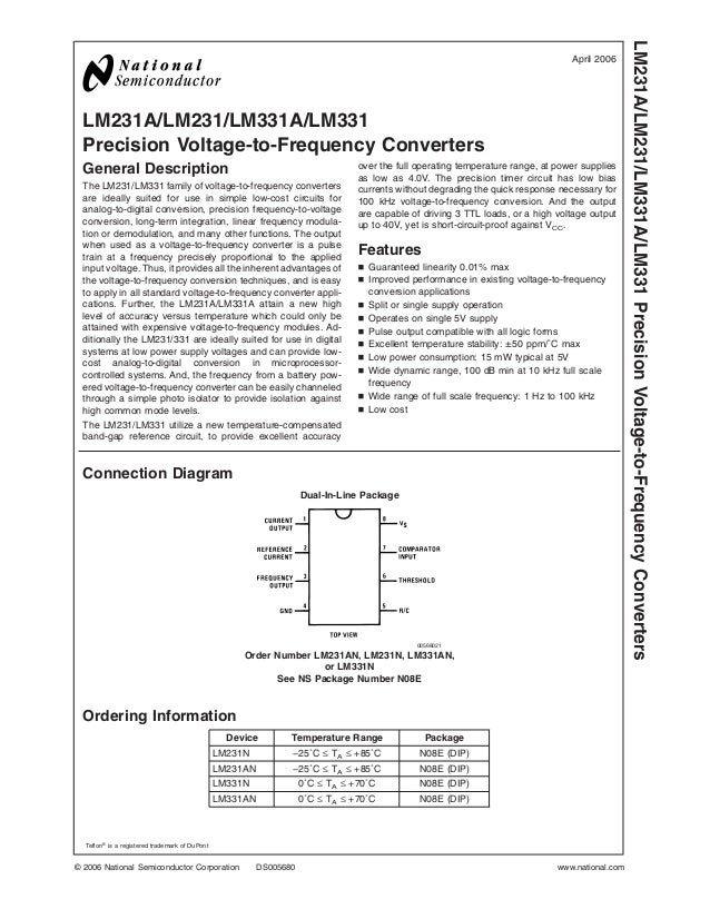 lm331 rh slideshare net LabVIEW Frequency to Voltage Converter Two and Frequency to Voltage Control Circuit 555