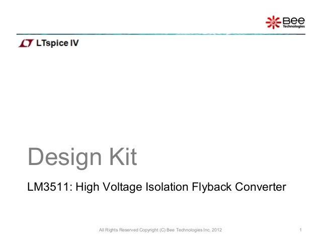 High Voltage Isolation Flyback Converter using LTspice