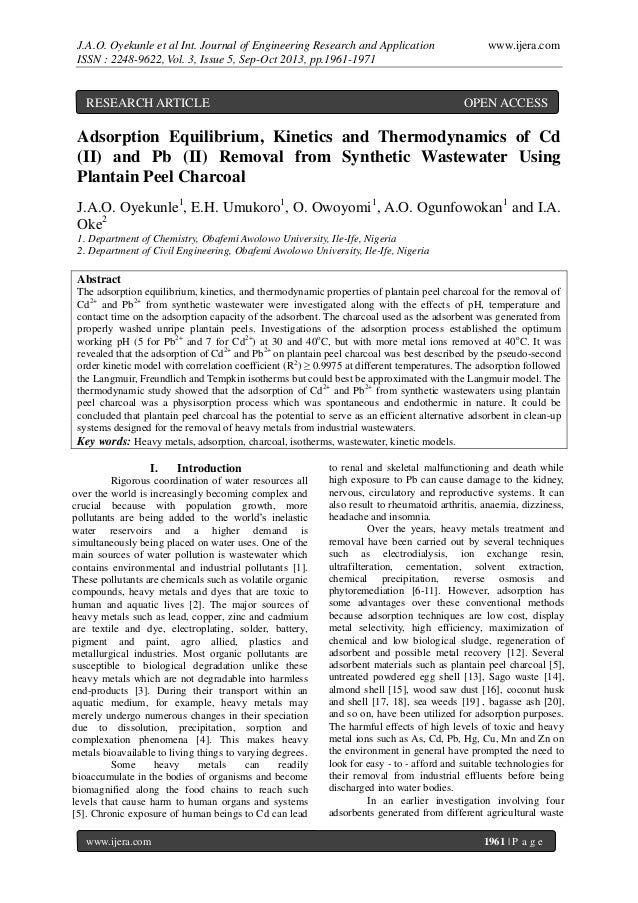 J.A.O. Oyekunle et al Int. Journal of Engineering Research and Application ISSN : 2248-9622, Vol. 3, Issue 5, Sep-Oct 2013...