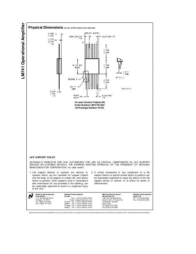 Lm741cn datasheet