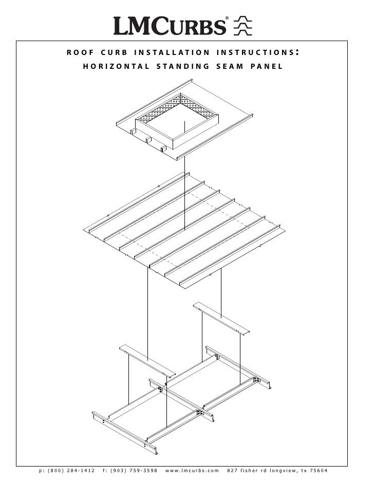 LMCurbs Roof Curb Installation Instructions For Horizontal