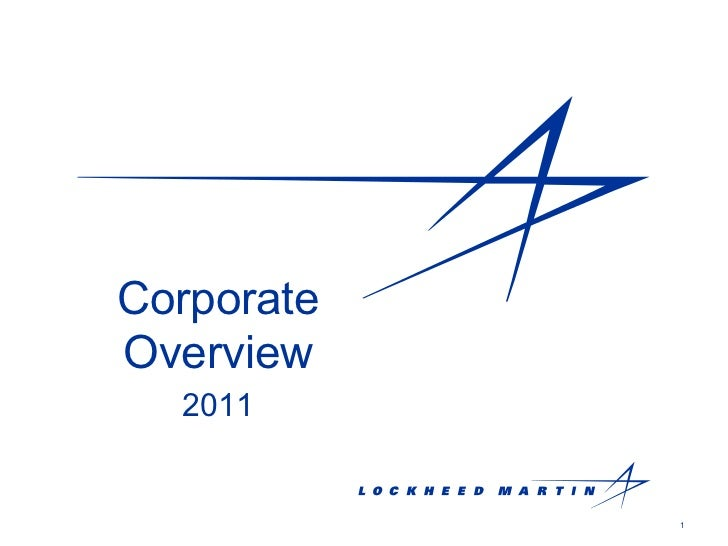 Corporate Overview 2011