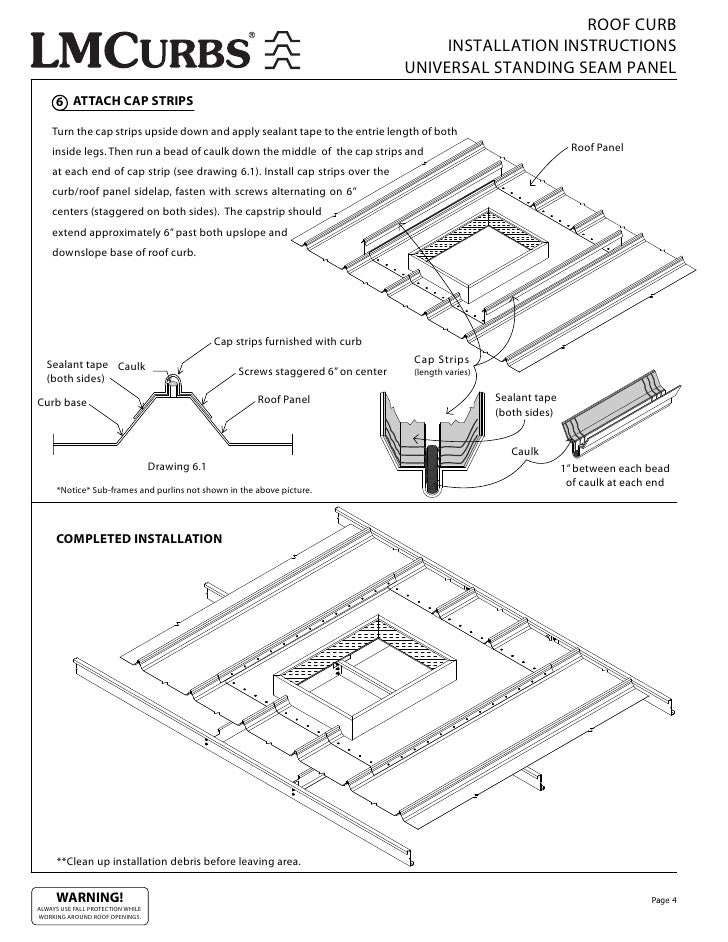 Lmcurbs Roof Curb Installation Instructions For Universal