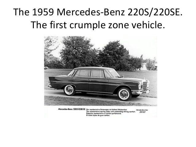 when were crumple zones invented