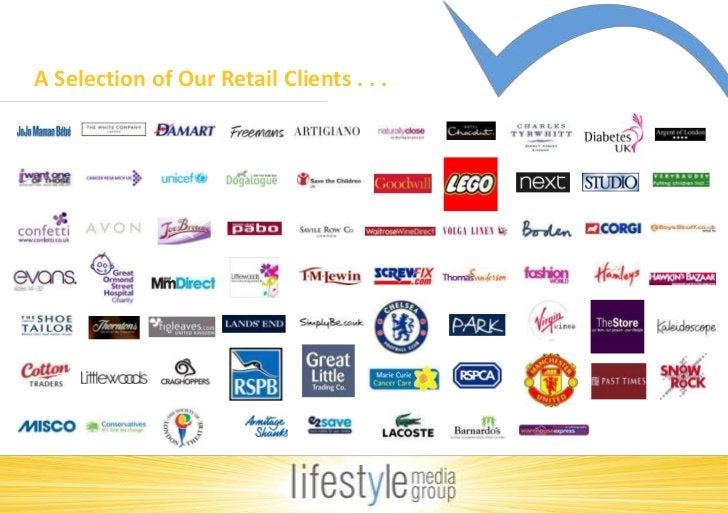 A Selection of Our Retail Clients . . . <br />
