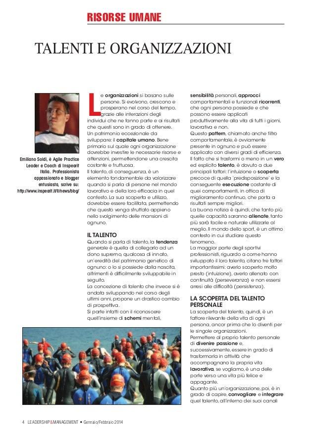 RISORSE UMANE  TALENTI E ORGANIZZAZIONI  L Emiliano Soldi, è Agile Practice Leader e Coach di Inspearit Italia. Profession...