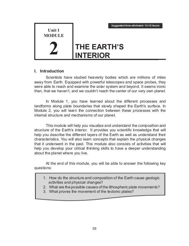 Earths interior worksheet pearson education