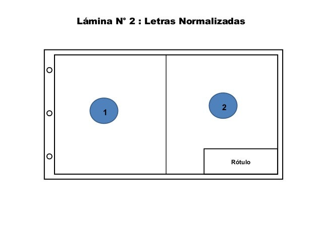 Lámina N° 2 : Letras Normalizadas  Rótulo  1 2