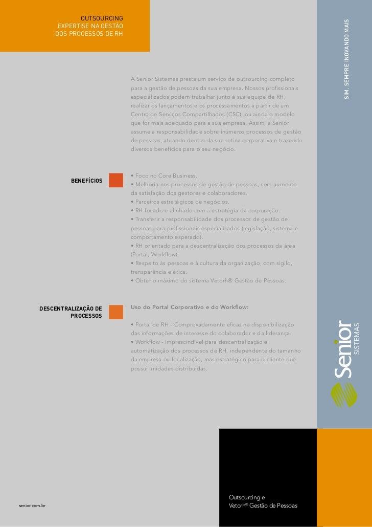 Outsourcing RH - Serviços Vetorh® Senior