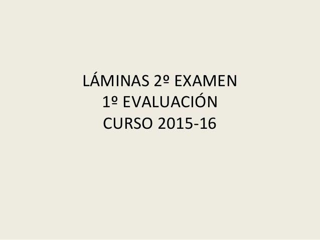 LÁMINAS 2º EXAMEN 1º EVALUACIÓN CURSO 2015-16
