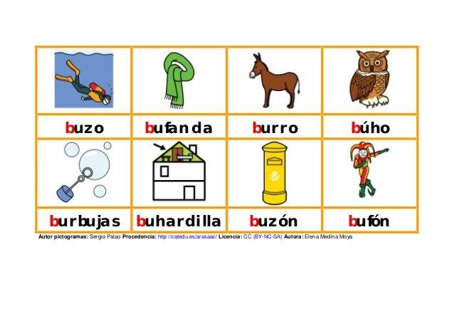 buzo bufanda burro búho burbujas buhardilla buzón bufón Autor pictogramas: Sergio Palao Procedencia: http://catedu.es/aras...