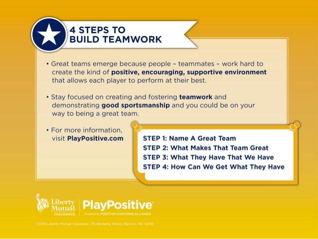 4 steps to build teamwork