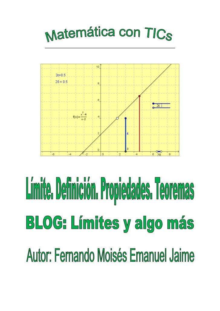 LÍMITES DE FUNCIONES                                                                               2011         1. LÍMITE ...