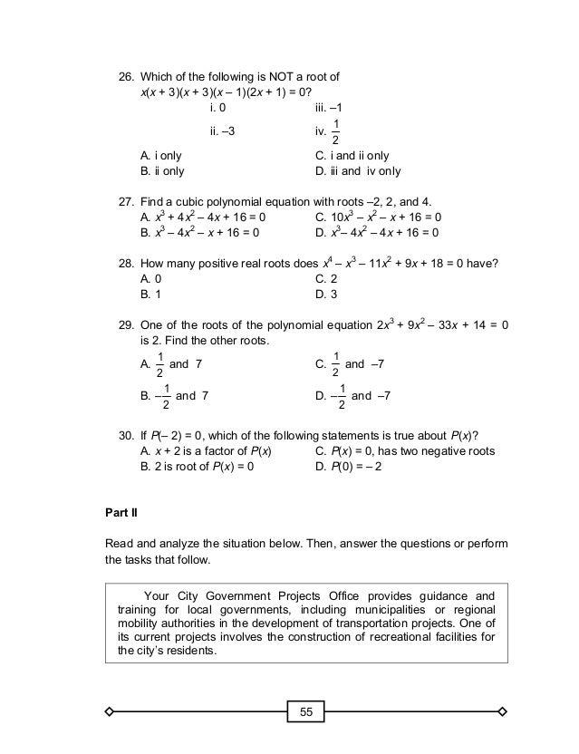 Grade 10 Math Module (1st Quarter)