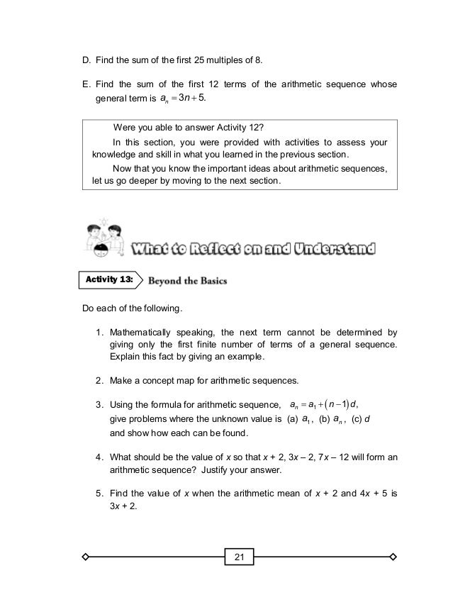 Sum Of Arithmetic Sequence Worksheet Pdf Diilz – Arithmetic and Geometric Sequences Worksheet