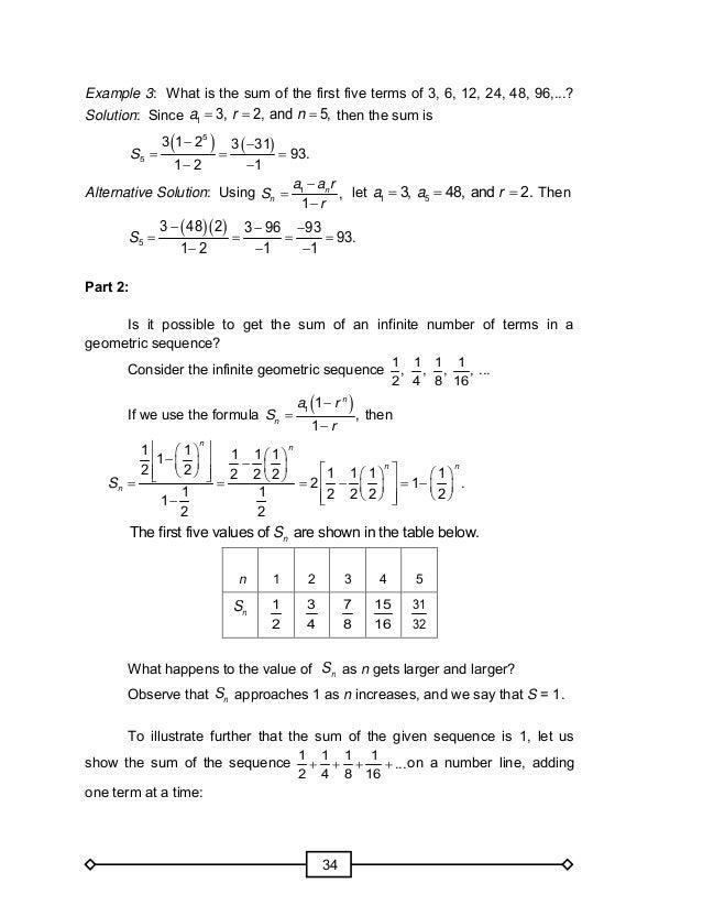 Grade 10 Module In Math – Geometric Sequence Worksheet