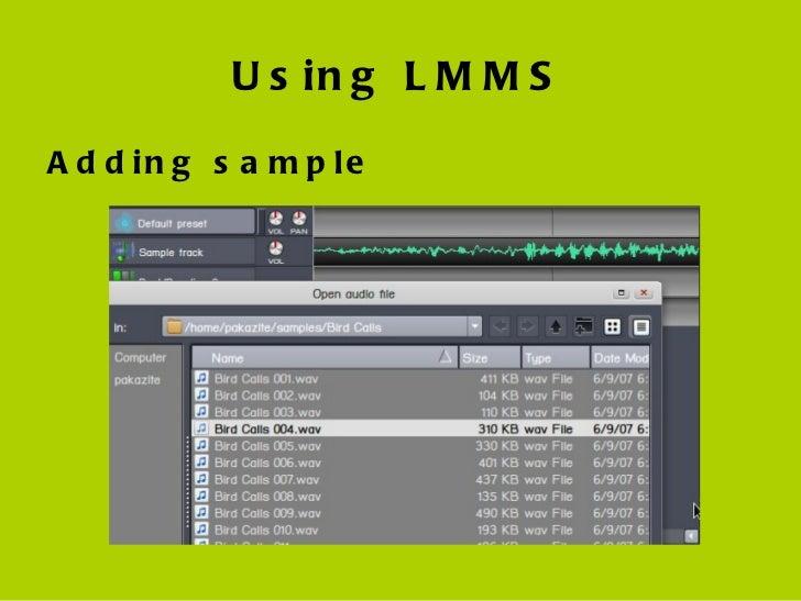 Lmms basic course presentation