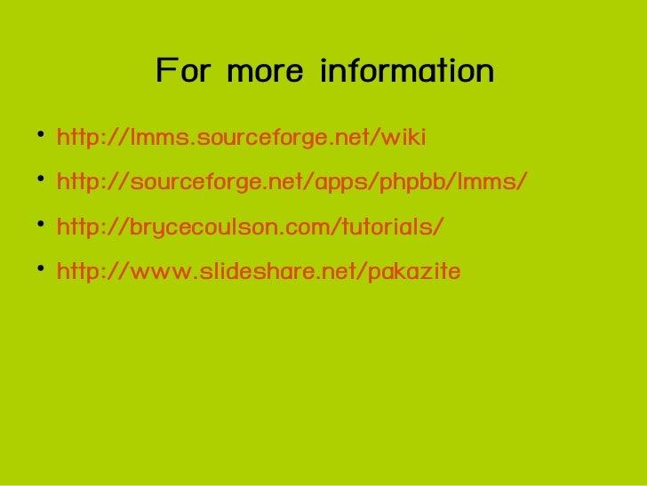 Lmms basic course presentation3 0