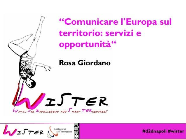 """#d2dnapoli #wister Foto di relax design, Flickr """"Comunicare l'Europa sul territorio: servizi e opportunità"""" Rosa Giordano"""