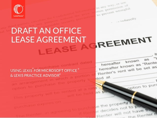 Review an office lease agreement all from within Microsoft Word