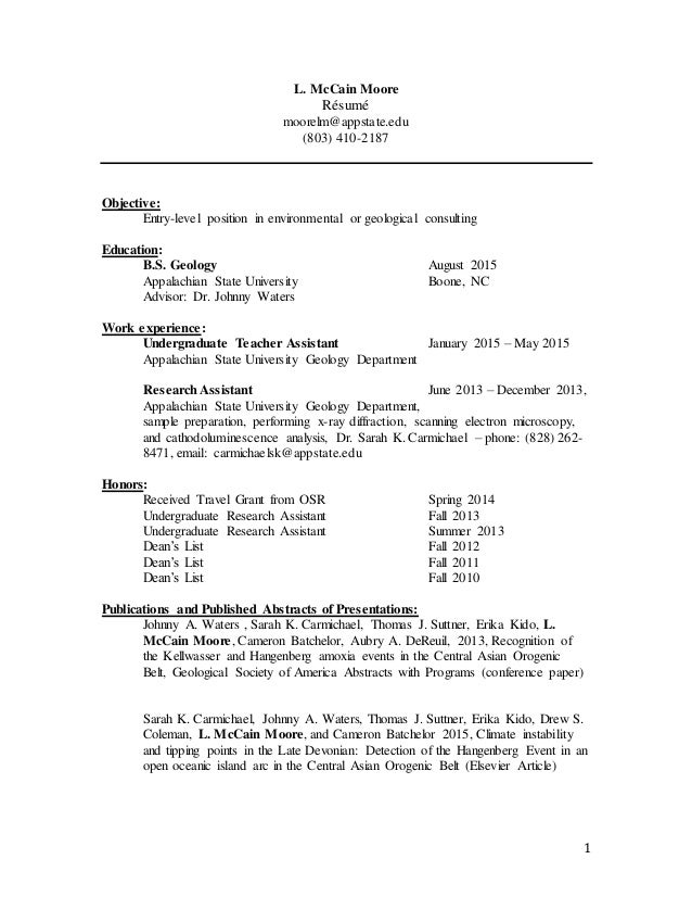 louise moore resume