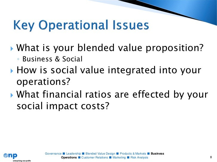 Social enterprise business plan operations