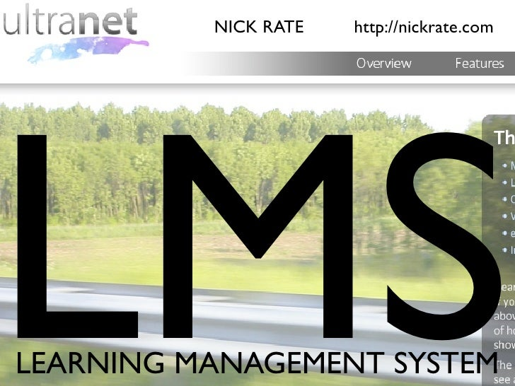 NICK RATE   http://nickrate.com           MS LEARNING MANAGEMENT SYSTEM