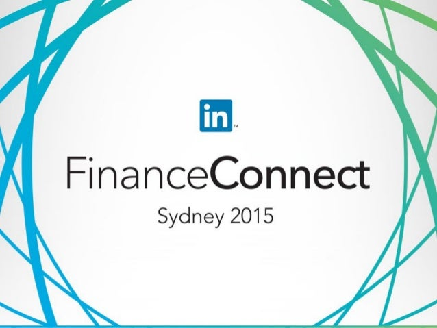 LinkedIn FinanceConnect Keynote Paul Edwards Group General Manager Corporate Communications and Publisher BlueNotes ANZ