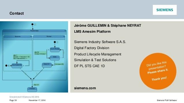 Statechart Designer of LMS Imagine.Lab Amesim: combine