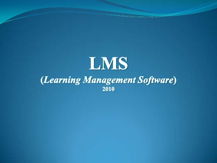 LMS is an abbreviated form for Learning Management Software. It is an web basedApplication for e-learning programs and tra...
