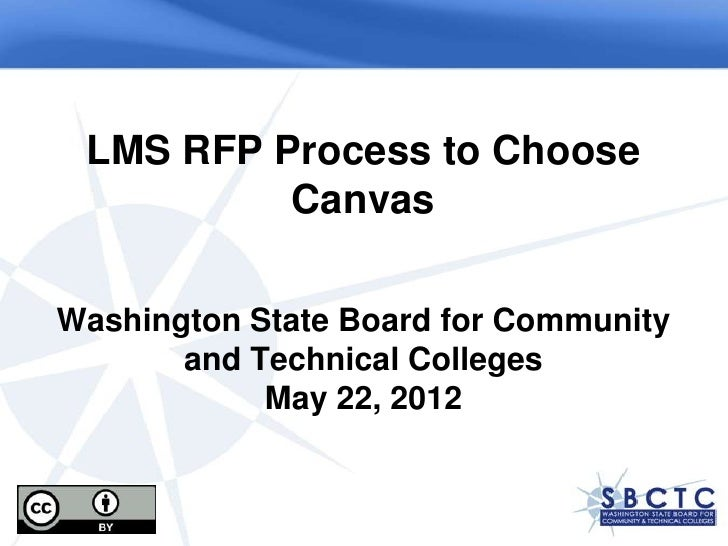LMS RFP Process to Choose          CanvasWashington State Board for Community       and Technical Colleges            May ...