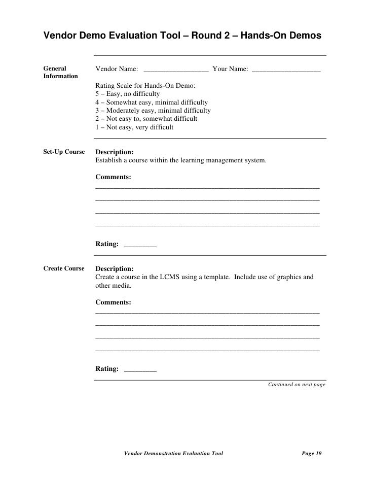 Supplier Evaluation Form Template  VisualbrainsInfo