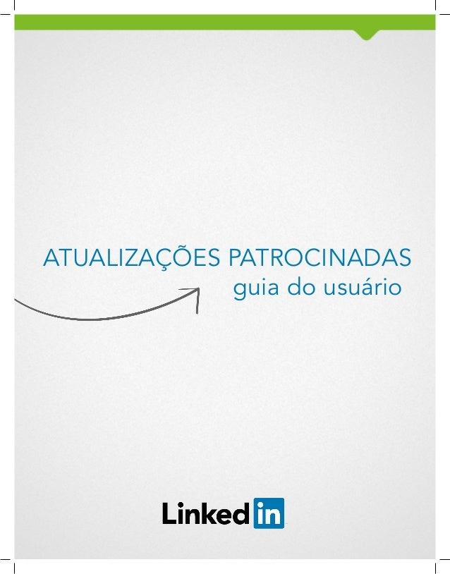 ATUALIZAÇÕES PATROCINADAS guia do usuário