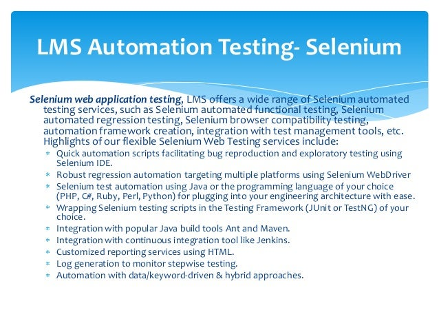 Lms Testing Services