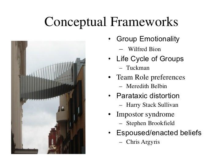 Conceptual Frameworks <ul><li>Group Emotionality </li></ul><ul><ul><li>Wilfred Bion </li></ul></ul><ul><li>Life Cycle of G...