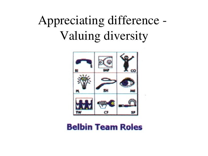 Appreciating difference -  Valuing diversity